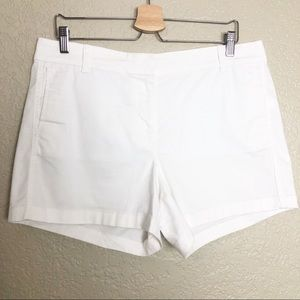 EUC J. Crew white chino cotton blend short